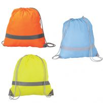 Pack of 25 High Visibility Drawstring Rucksacks